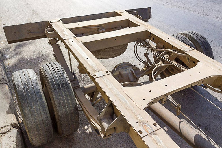 Galvanization of a truck frame